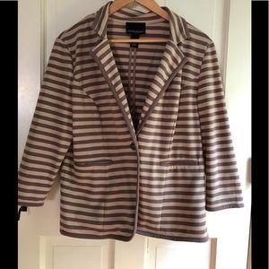 Cynthia Rowley striped cotton blazer size large
